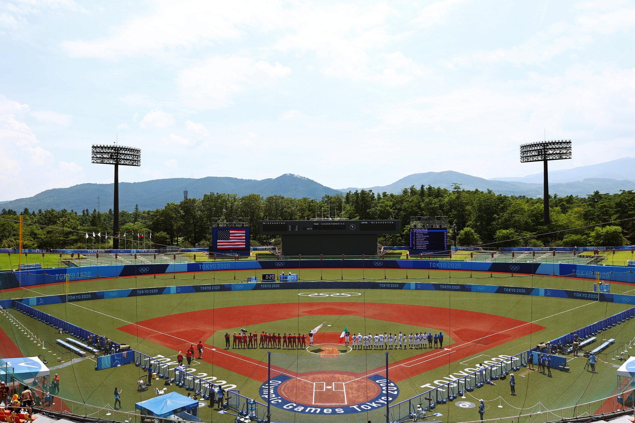 Softball fans express frustration as GOLD MEDAL Game on men's baseball field